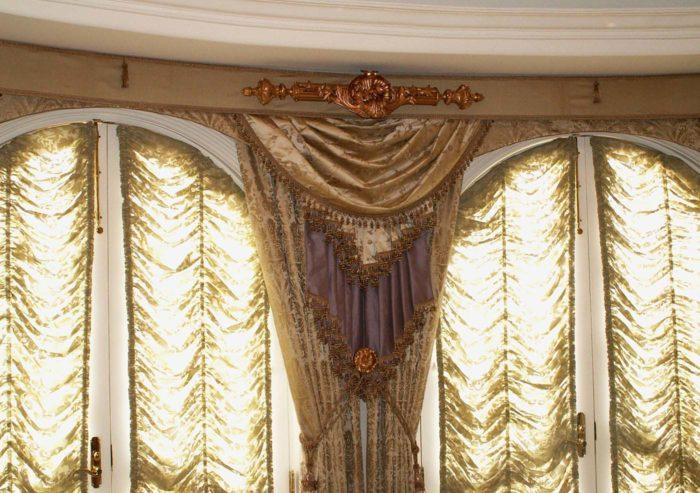 Элитные шторы в салоне штор Этюд Москва
