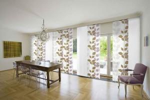 Японские шторы панели для гостиной