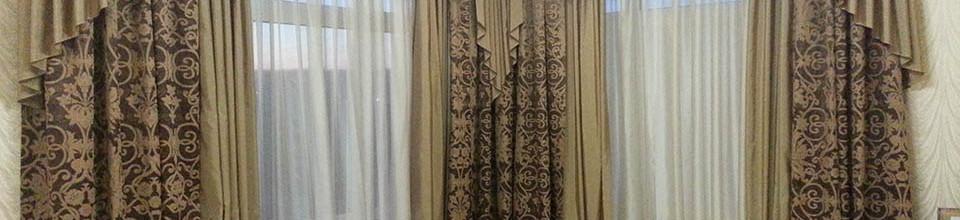 Портьеры с ламбрекенами в гостиную