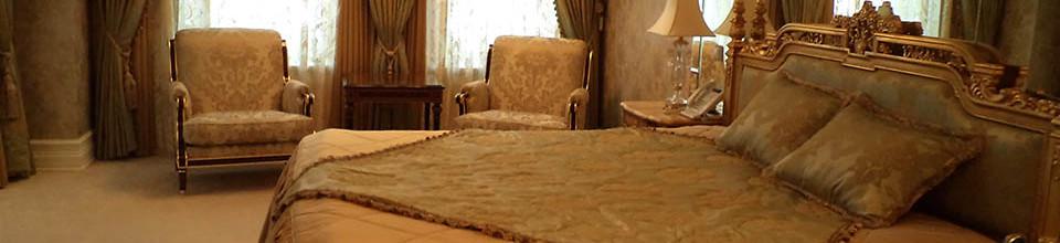 Портьеры для элитной спальни