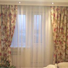 Красивые шторы с орнаментом для гостиной