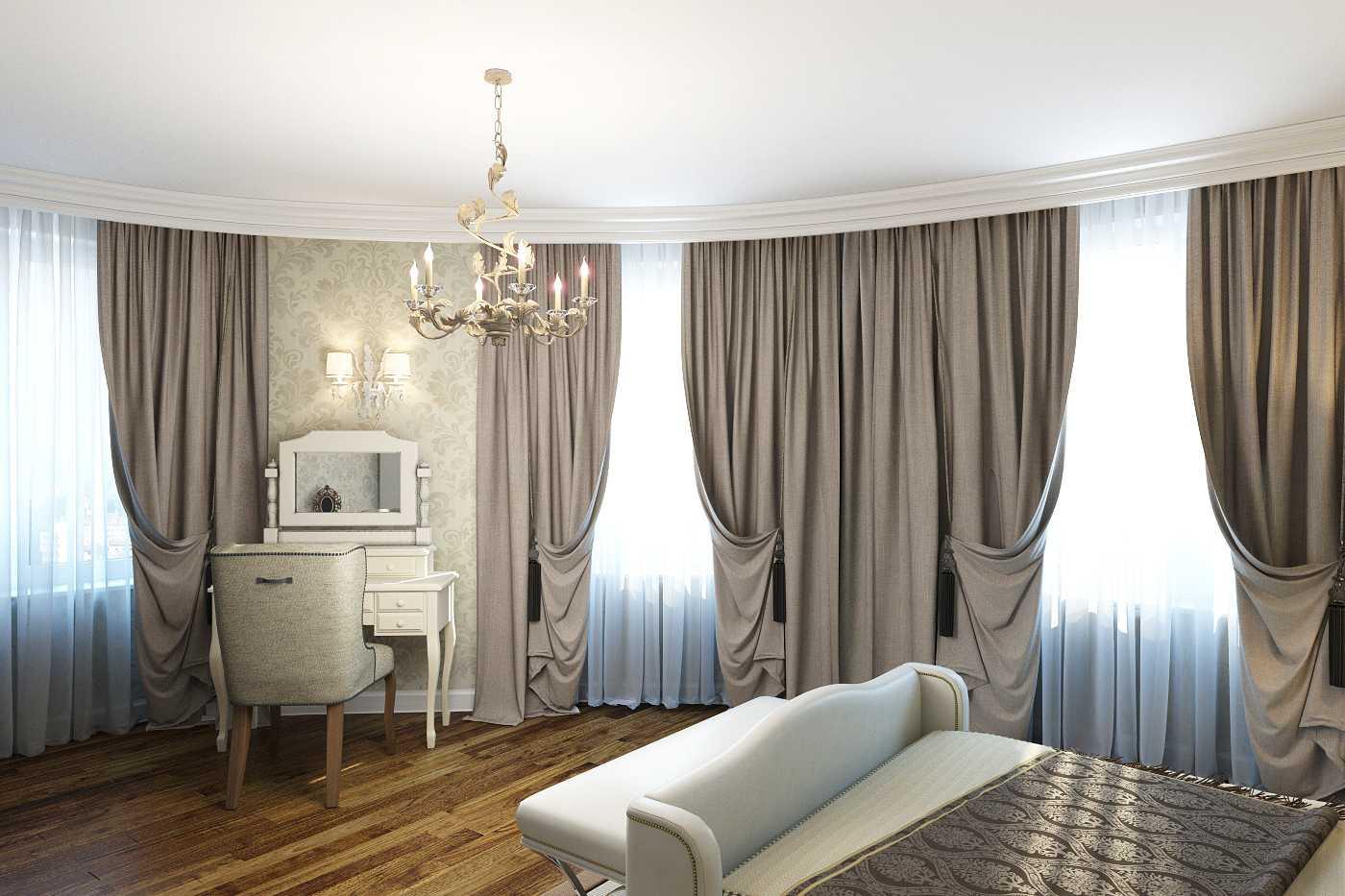 шторы для гостиной в стиле неоклассика фото можно